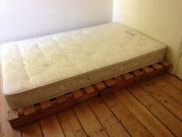 Small wooden double bed for sale