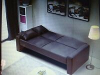 Modern PU Leather sofa Bed 2/3 seater Brown