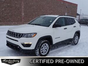 2018 Jeep Compass 4WD SPORT Accident Free,  Back-up Cam,  Blueto
