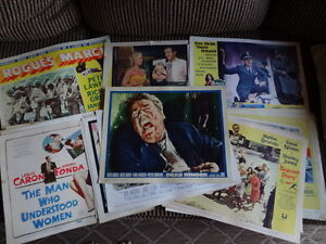 Vintage Movie Lobby Card Collection of 30 Originals-Rare 1950's