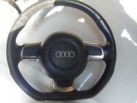 Audi S3 A3 TTS TT ROUND GENUINE ORIGINAL AIRBAG MK2 flat bottom steering wheel
