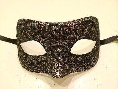 White Leopard Venetian Masquerade Costume Ball Prom Dance Party Wedding Mask (Leopard Masquerade Masks)