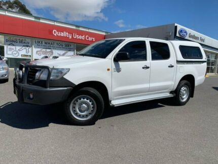 2015 Toyota Hilux SR SR White Automatic Dual Cab Utility Goulburn Goulburn City Preview