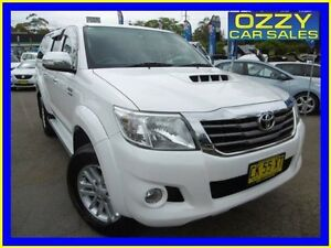 2012 Toyota Hilux KUN26R MY12 SR5 (4x4) White 4 Speed Automatic Dual Cab Pick-up Penrith Penrith Area Preview