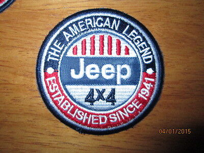 **LOVE IT OR IT'S FREE** Jeep The American Legend patch, NAVY Blue backing, Free