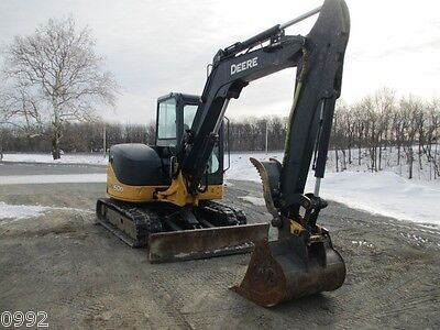 2011 John Deere 60d Hydraulic Excavator Full Cab Air Heat 2075 Hours