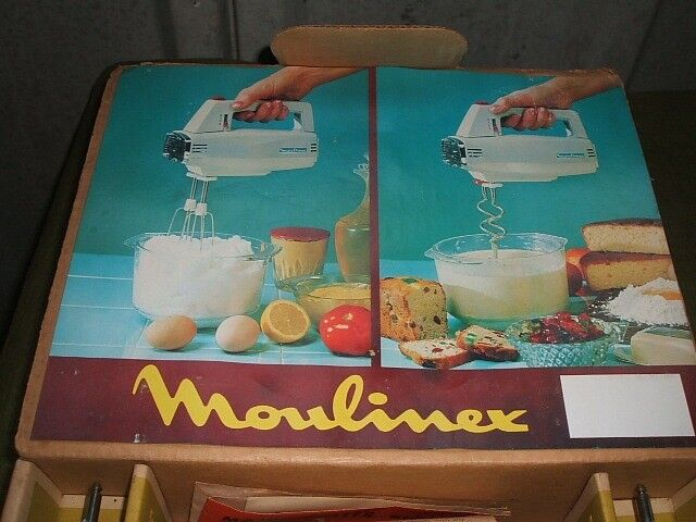 vintage moulinex electric hand mixer
