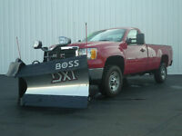 "The Boss 8'2"" Power V-DXT Stainless Steel Plow"