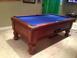 Australian Tasmanian oak 7 x 3 pool table
