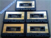 TDK SA-X 90 GOLD ISSUE 1985-87 DUAL LAYERED PREMIUM AUDIOPHILE CHROME CASSETTE TAPES