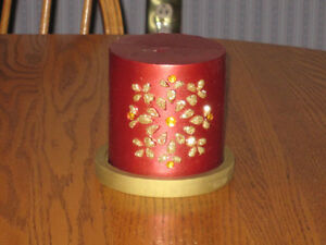 3 Christmas Candle Centrepieces
