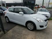 2012 Suzuki Swift FZ GL White 4 Speed Automatic Hatchback Burwood Whitehorse Area Preview