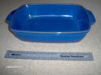 Denby pottery - imperial blue large pie dish/serving dish