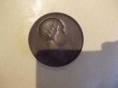 belle  medaille de table belge royauté belge