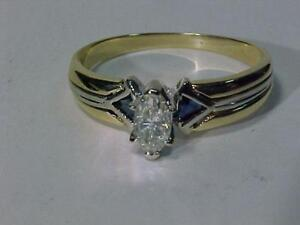 #3270-14K Y/W/Gold .54ct MARQUISE DIAMOND ENGAGEMENT-APPRAISED $3,250.00 SELL $795.00-FREES/H and Appraisal included