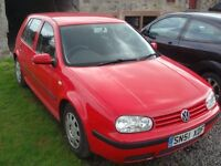 Golf 2001 petrol 1.6 for spares or complete