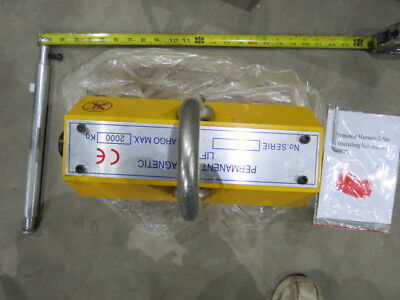 2000 Kg Magnetic Lifter 4400 Lbs Pounds Crane Hoisting Magnet Heavy Duty New
