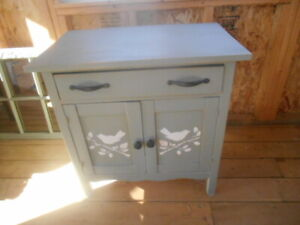 Antique wash stand and matching mirror.