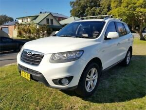 2010 Hyundai Santa Fe CM MY10 Highlander CRDi (4x4) White 6 Speed Automatic Wagon Broadmeadow Newcastle Area Preview