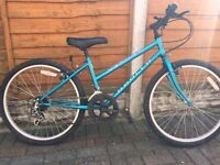 "Girls Blue Apollo Bicycle - 24"" Wheels, 10 gears"
