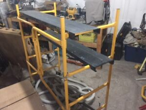 4 foot portable scaffolding with wheels for sale!