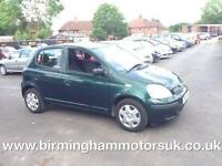 2004 (54 Reg) Toyota Yaris 1.0 VVT-I T3 5DR Hatchback GREEN + LOW MILES