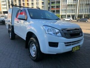 2015 Isuzu D-MAX TF MY15 SX (4x4) White 5 Speed Automatic Space Cab Chassis North Strathfield Canada Bay Area Preview