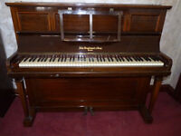 ANTIQUE BROADWOOD UPRIGHT PIANO & PIANO STALL