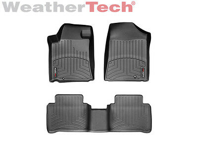 WeatherTech Floor Mats FloorLiner for Nissan Maxima - 09-14 - 1st/2nd Row- Black