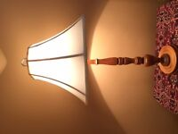 Solid maple lamp.