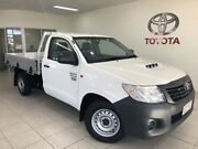 2013 Toyota Hilux WORKMATE White Manual Cab Chassis Bungalow Cairns City Preview