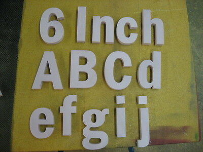 6 Tall X 1 Thick Economy Rigid Foam Dimensional Sign Letters Message Name