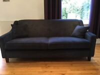 Nearly New Dark Blue Sofas