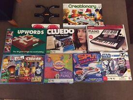 Various Board Games inc. Simpsons, Lego, Star Wars, Logo