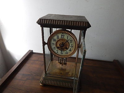 Antique 14 Inch 19Th C Tiffany Ny  Carriage Clock Runs To Service Internatl Sale