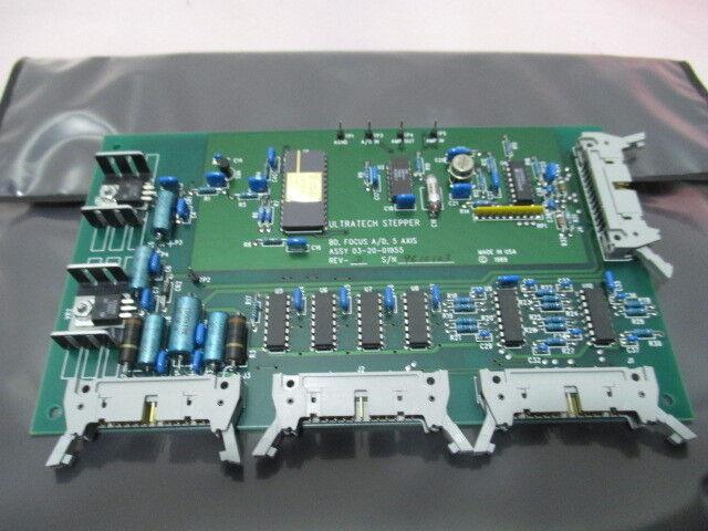 Ultratech Stepper 03-20-01955 Focus A/D 5 Axis Board, PCB, 13-20-01956, 415902