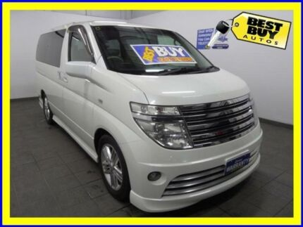 2003 Nissan Elgrand E51 Rider Pearl White 5 Speed Automatic Wagon Campbelltown Campbelltown Area Preview