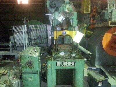 30 Ton Bruderer 3 Post High Speed Press 629-1.57 Adjustable Stroke 7.5 Shut H