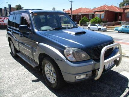 2005 Hyundai Terracan Blue Manual Wagon