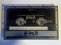 9x 1980S/90s NEW/USED SONY TYPE 1&2 CASSETTE TAPES. HF-PRO, UX TURBO, FXII CHROME, HD-F, HF, FN, EF.