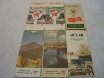 Lot of 6 Vintage Texaco Road Maps