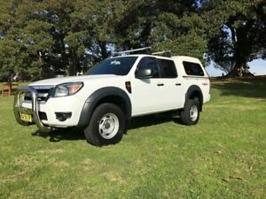 2010 Ford Ranger PK XL (4x4) White 5 Speed Manual Dual Cab Pick-up Islington Newcastle Area Preview