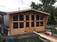 12x8 summer house 13mm t&g