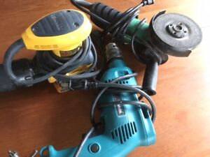 Divers outils / ponceuse, perceuse, grinder