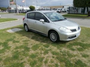 2007 Nissan Tiida C11 MY07 ST Silver 4 Speed Automatic Hatchback Maddington Gosnells Area Preview
