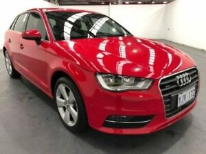 2014 Audi A3 8V AMBITION SPORTBACK S TRONIC QUATTRO Red Sports Automatic Dual Clutch Hatchback Fyshwick South Canberra Preview