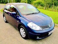 2009 (59 Reg) Nissan Tiida 1.6 109bhp 5 door Hatchback Petrol Manual like Corolla Civic Pulsar