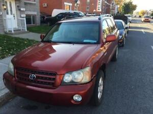 2001 TOYOTA HIGHLANDER LTD 4x4 3980$ FINANCE MAISON 100% APPROUV