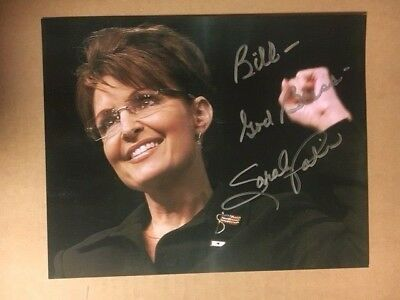 Sarah Palin Original Signed 8x10 Stunning Photo with COA