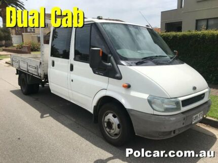 2002 Ford Transit VH Dual Cab Ute White Manual Woodville Park Charles Sturt Area Preview